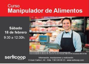 Curso en Seguridad Alimentaria - Curso de Manipulador + Alergenos en Hostelería @ Centro Formación Serlicoop | Elda | Comunidad Valenciana | España